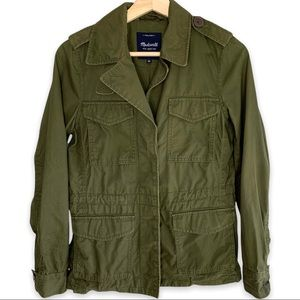 Madewell Outbound Utility Jacket Military Canvas